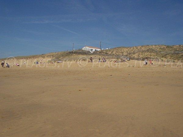 Arrière plan de la plage de la Terrière à La Tranche sur Mer - Accès 152