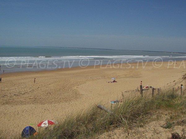 Vue de la plage de la Terrière depuis les dunes - Accès 152