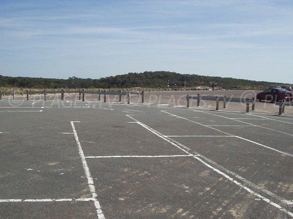 Parking of Terrière beach in La Tranche sur Mer