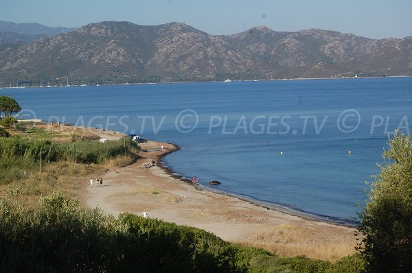 Tettola beach in Saint Florent in Corsica
