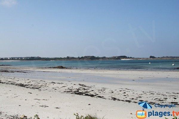 Photo de la plage du Théven à Santec