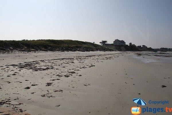 Environnement de la plage de Théven - Santec