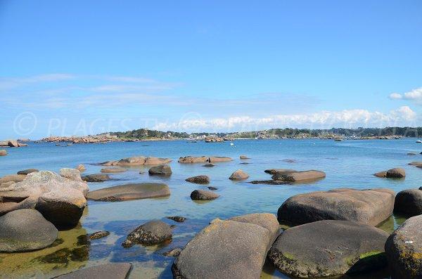 Rochers sur l'Ile Renote à Trégastel