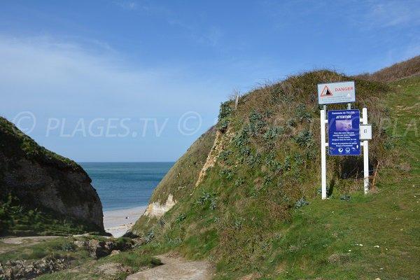 Antifer beach from cliffs