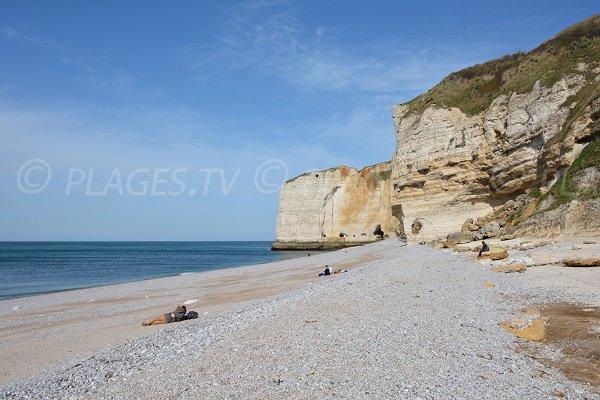 Photo de la plage d'Antifer au Tilleul (76)