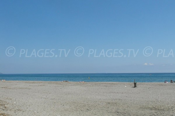 Photo de la plage du Lido de la Marana à Furiani