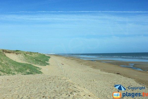 Foto della spiaggia della Tonelle a St Jean de Monts in Francia