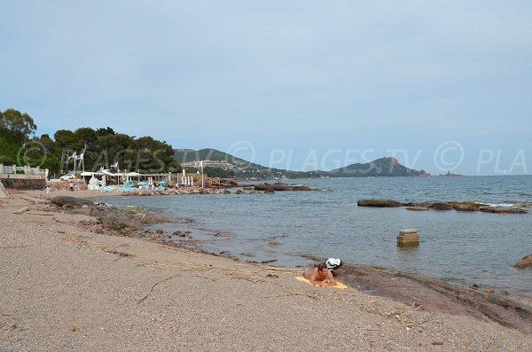 Sand beach near Boulouris port in Saint Raphael