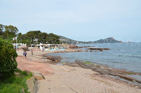 Tortue beach with view on Dramont - Saint-Raphael