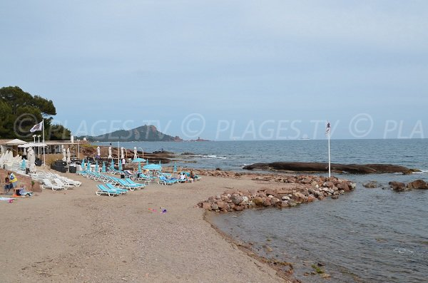 Tortue beach in Saint Raphael in France