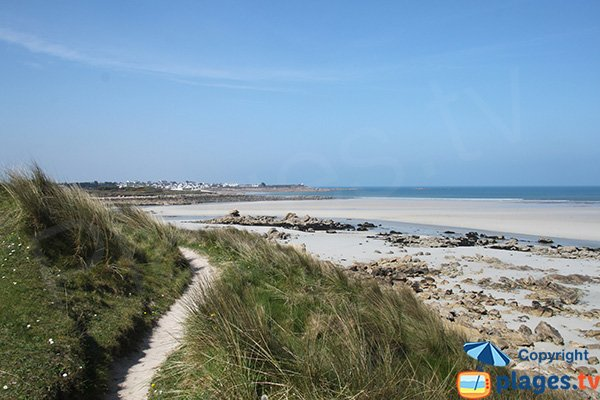 Plage sauvage en Bretagne - Toul an Ouch