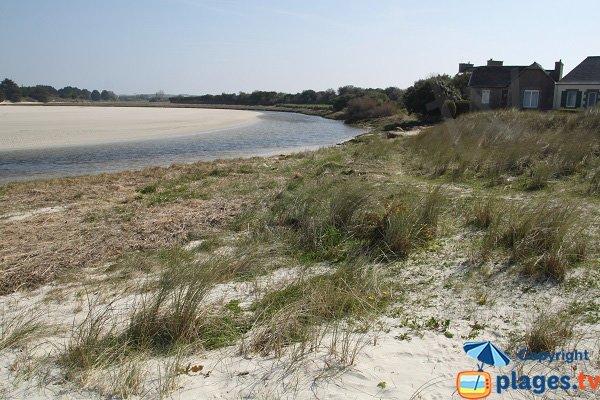 Hameau de Toul an Ouch avec sa plage