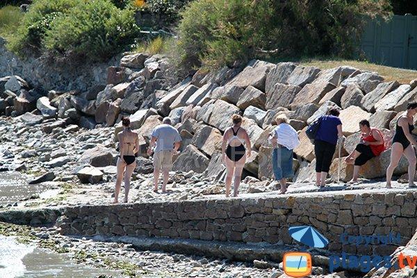 Cale et rochers de la crique de Toul ar Vilin - Saint-Michel-en Grève