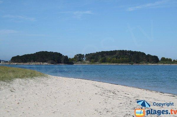 Partie nord de la plage de Toul Gwenn de Pleumeur Bodou