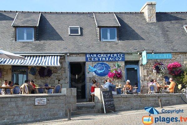 Restaurant sur l'ile grande à proximité de Toull Gwen