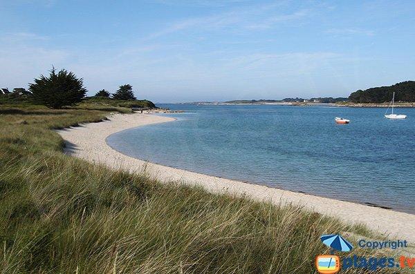 Photo de la plage de Toull Gwenn sur l'Ile Grande
