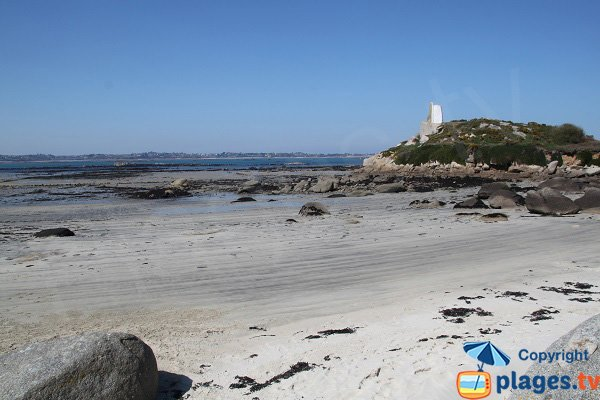 View on Roscoff from Callot island