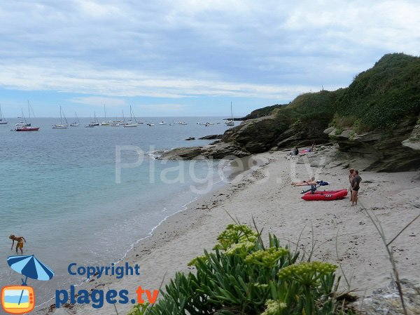 Cove on the east coast of the island of Groix