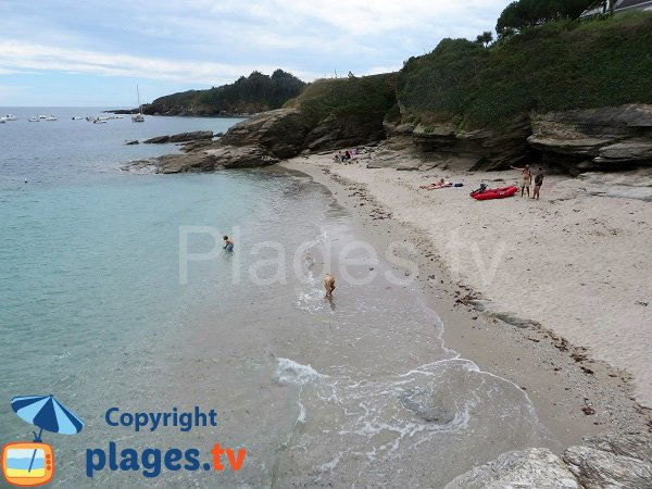 Photo de l'ancienne plage des Grands Sables de l'ile de Groix