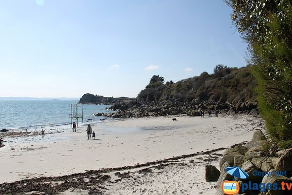 Photo of Traon Erc'h beach in Roscoff in Brittany