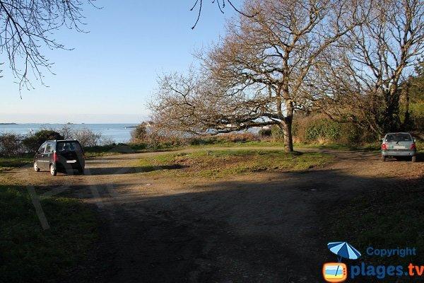 Parking de la plage de Traonazen