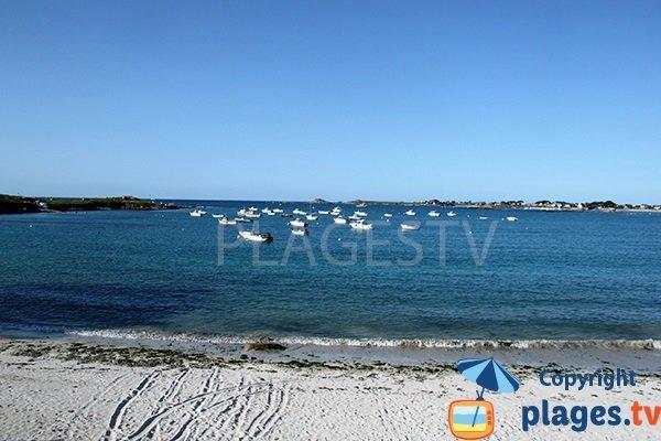 plage de Tremazan à Landunvez dans l'anse de Portsall