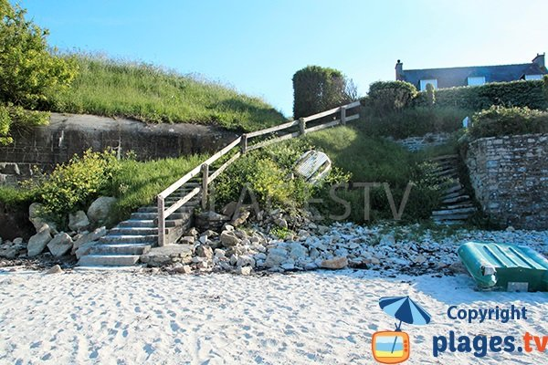 Annexes sur la plage de Tremazan - Landunvez