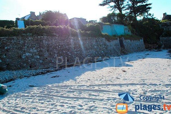 Rebord de la plage de Tremazan - Landunvez