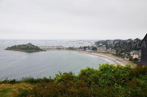Photo aérienne de la plage de Tresmeur à Trébeurden