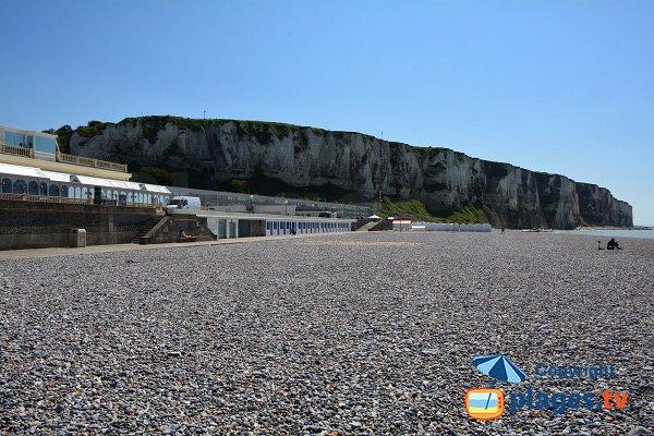 Seaside front of Tréport in France