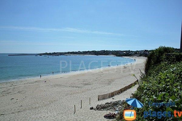 Grande plage d'Audierne en Bretagne
