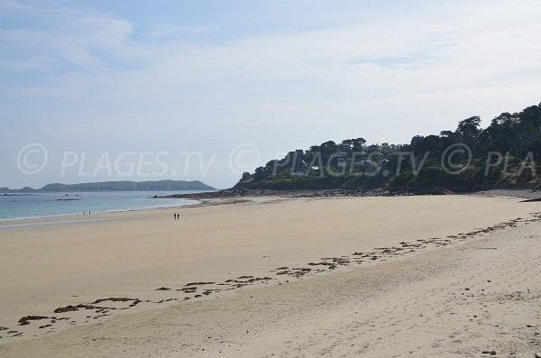Beach in Perros Guirec near the Casino - Brittany