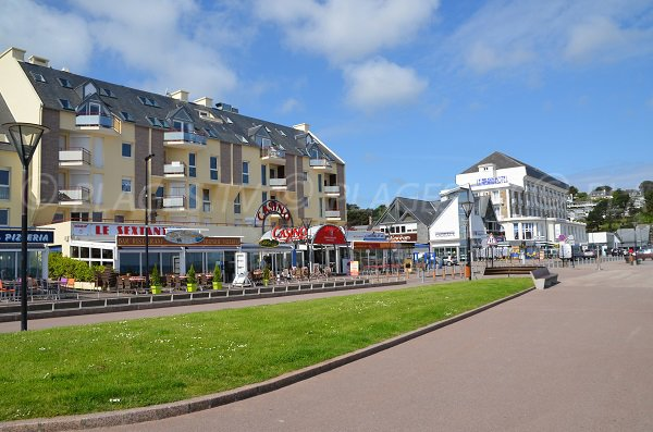 Casino of Perros Guirec in front of the beach of Trestraou in Perros Guirec