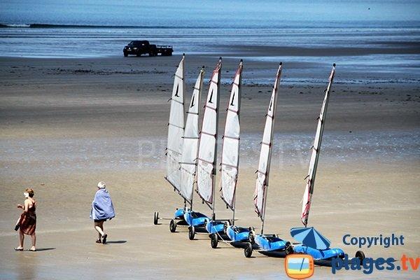 Char à voile sur la plage de Trez Bellec à Telgruc sur Mer