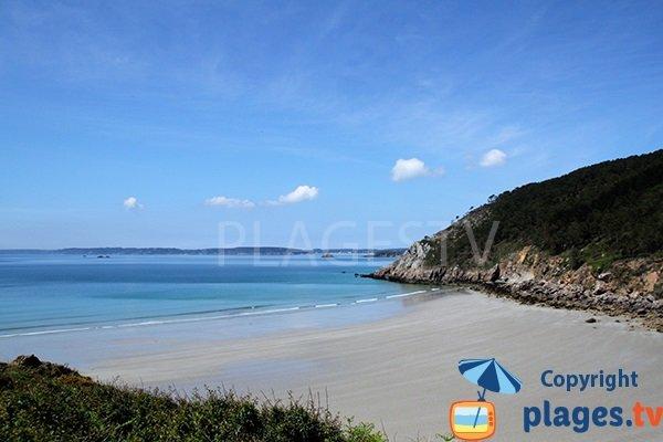 Photo de la plage de Trez Bihan à Telgruc sur Mer dans le Finistère