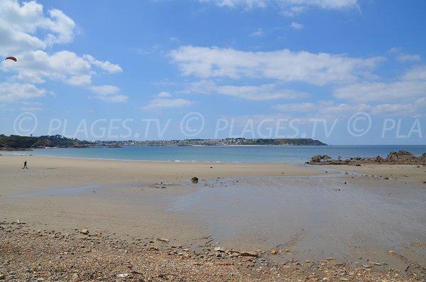 Beach in Crozon with view on Camaret sur Mer