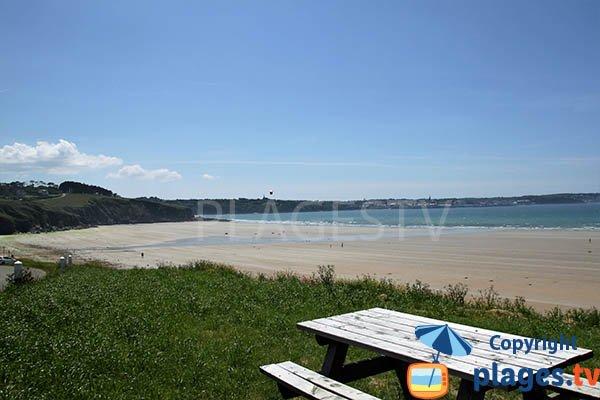 Photo de la plage de Trezmalaouen à Kerlaz en Bretagne