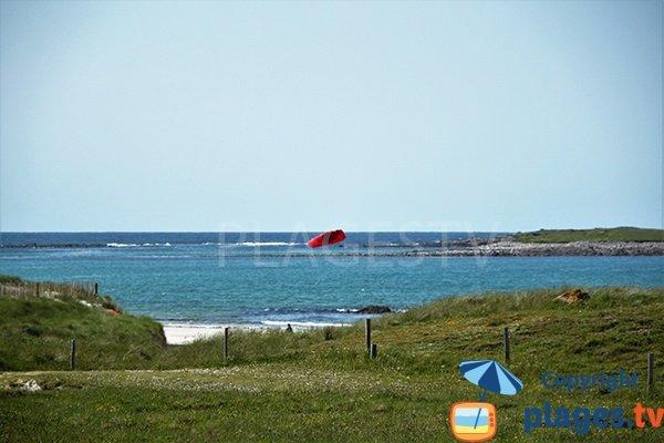 Environnement de la plage de Lampaul Ploudalmézeau