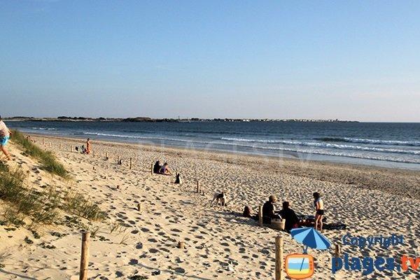 Photo de la plage de Tronoen en Bretagne