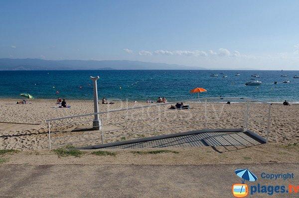 Accesso alla spiaggia del Trottel