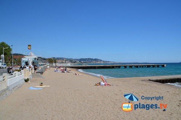 Sand beach in Cannes la Bocca - France