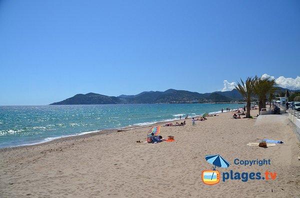 Midi beach in Cannes La Bocca - France