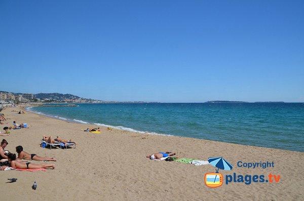 Trou de l'Ancre beach in Cannes la Bocca (Midi beach) - France