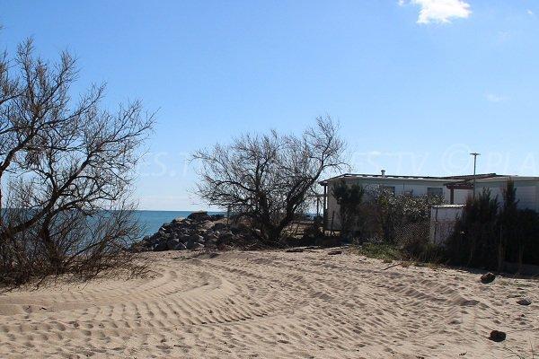 Environnement de la plage du Trou du Ragout à Vias