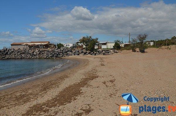 Photo de la plage du Trou du Ragout à Vias