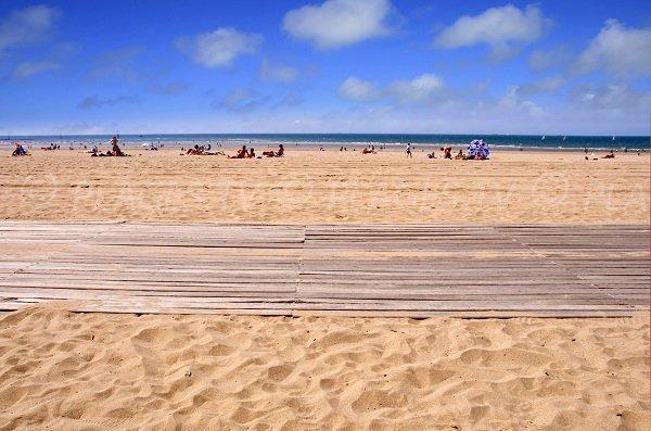Planches de Trouville sur la plage