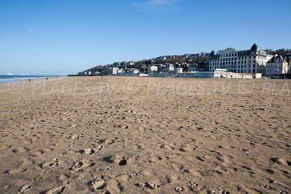 Photo de la plage de Trouville en hiver