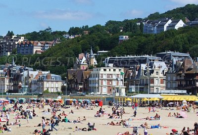 Seaside of Trouville in France