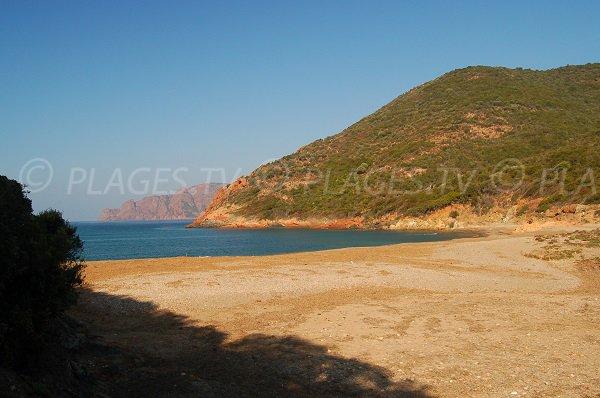 Tuara beach in Corsica - Porto Gulf