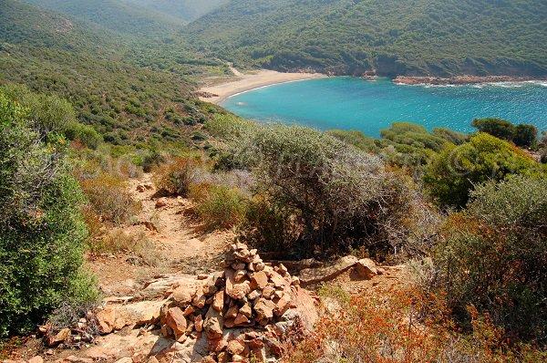 Photo de la plage de Tuara - Girolata - Corse